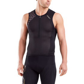 2XU Compression Débardeur de triathlon Homme, black/gold